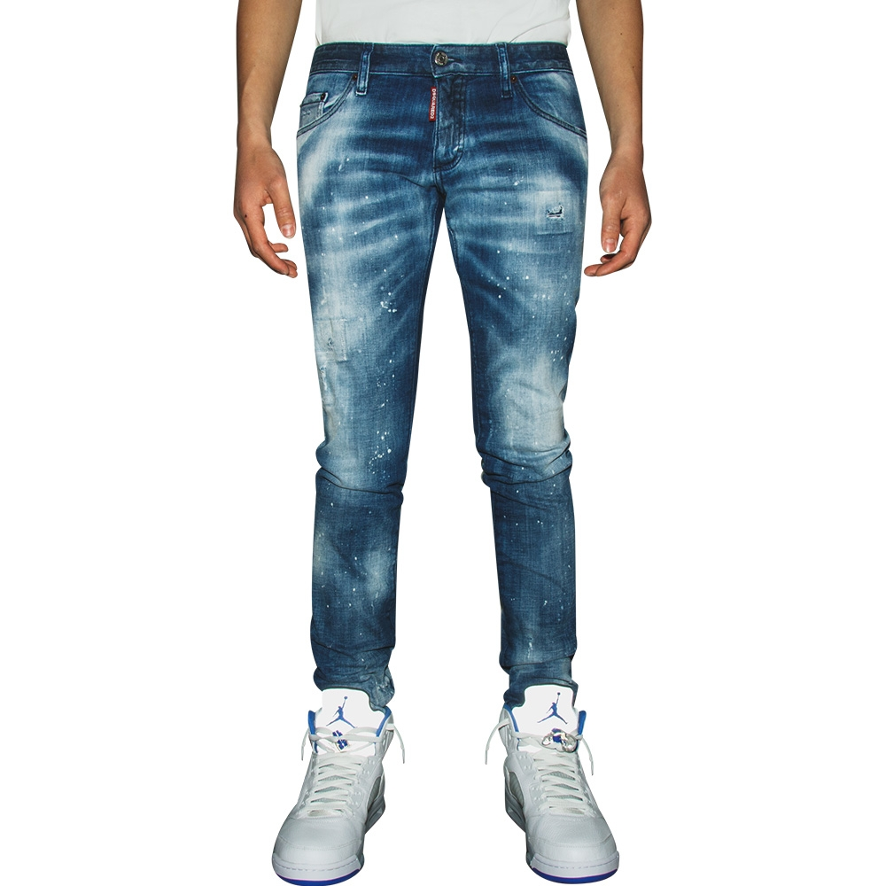 DSQUARED2 - Medium 2 Wash Anniversary Bumster Jeans